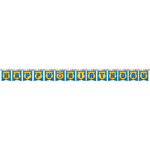 Police Party Jointed Birthday Banner