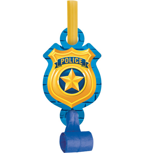 Police Party Blowouts 8pk