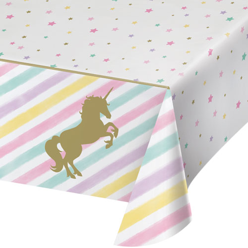 Unicorn Sparkle Plastic Tablecover