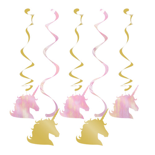 Unicorn Sparkle Dizzy Dangler Decorations