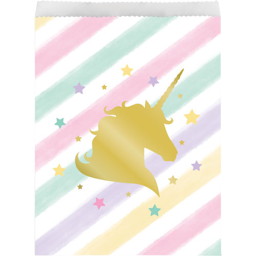 Unicorn Sparkle Paper Treat Bags 10pk