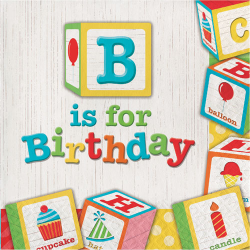 ABC Birthday Lunch Napkins 16pk