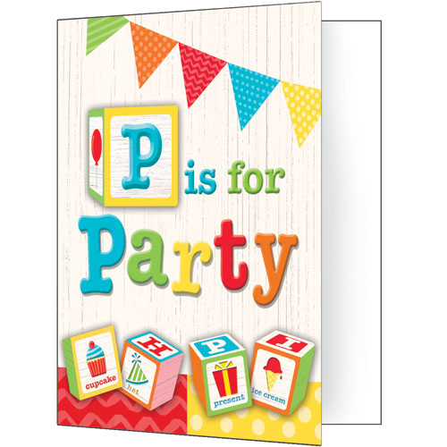 ABC Birthday Party Invitations 8pk