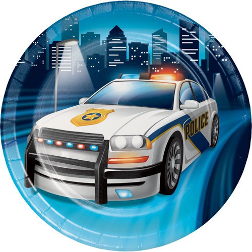 Police Party Dessert Plates 8pk