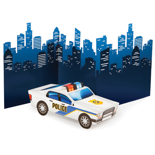 Police Party 3D Police Car Centerpiece