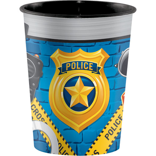 Police Party Plastic 16oz Souvenir Cup