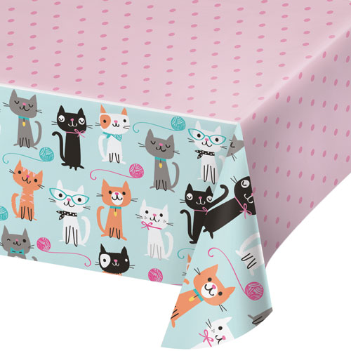 PurrFect Party Plastic Tablecover