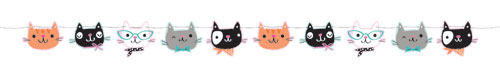 PurrFect Party Shaped Twine Banner