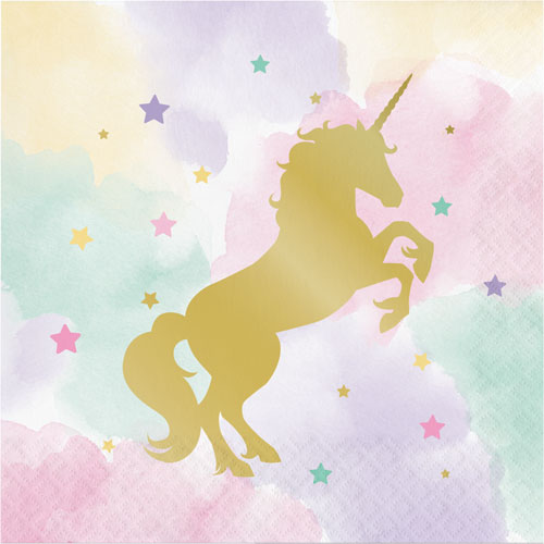Unicorn Sparkle Lunch Napkins 16pk