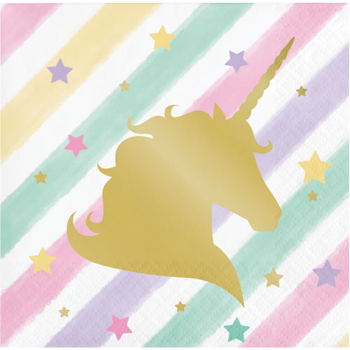 Unicorn Sparkle Beverage Napkins 16pk