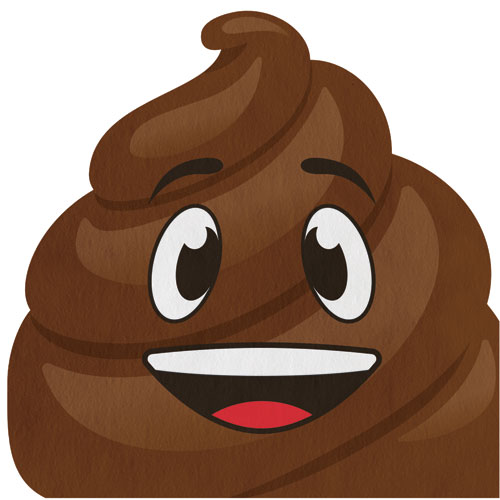 Emojions Poop Shaped Lunch Napkins 16pk