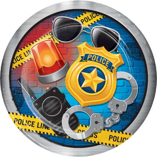Police Party Dinner Plates 8pk