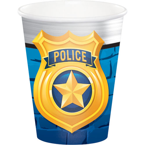 Police Party 9oz Cups 8pk