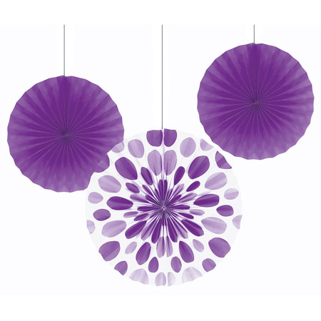 Solid Amethyst Paper Fans