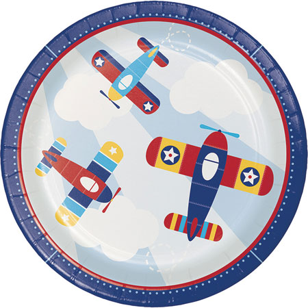Lil Flyer Airplane Dinner Plates 8pk