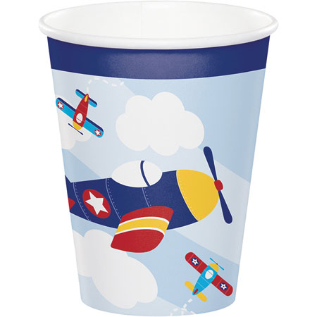 Lil Flyer Airplane 9oz Cups 8pk