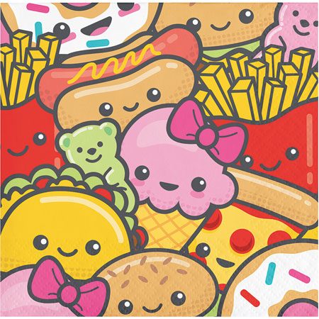Junk Food Fun Beverage Napkins 16pk