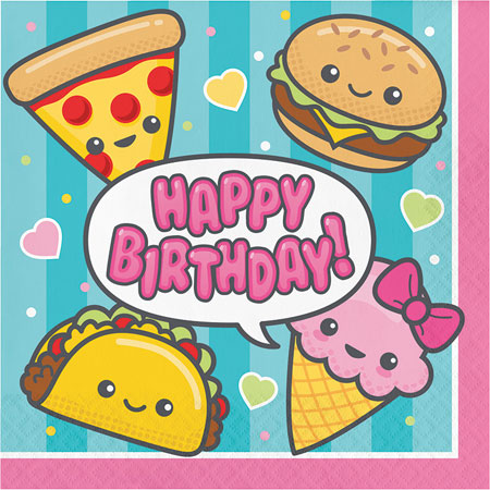 Junk Food Fun Birthday Lunch Napkins 16pk