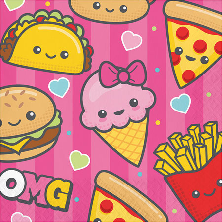 Junk Food Fun Lunch Napkins 16pk