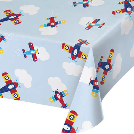 Lil Flyer Airplane Plastic Tablecover