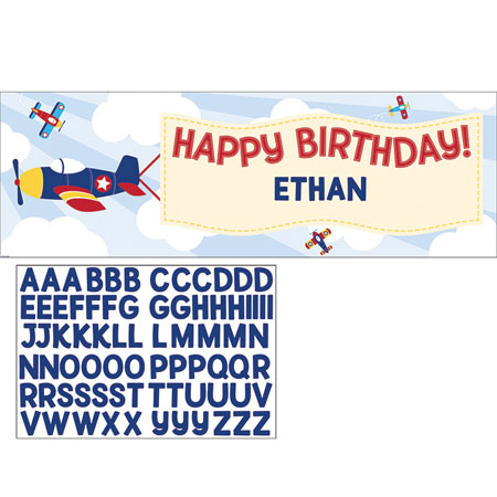 Lil Flyer Airplane Giant Party Banner