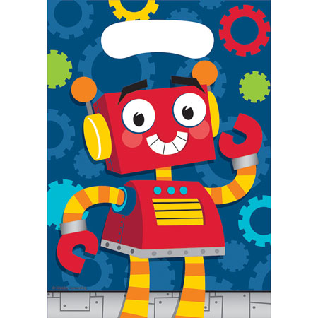 Party Robots Loot Bags 8pk