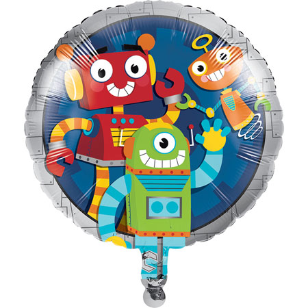 Party Robots Metallic Balloon