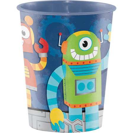 Party Robots 16oz Plastic Keepsake Cup