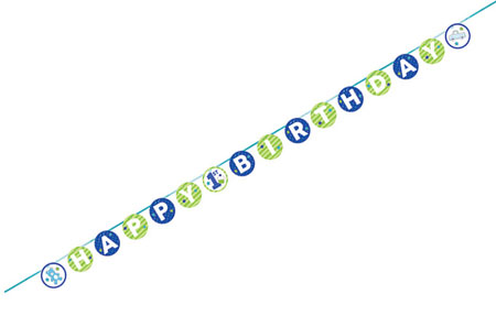 Doodle 1st Birthday Boy Ribbon Banner