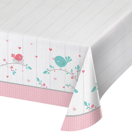 Hello Baby Girl Plastic Tablecover