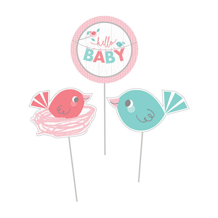 Hello Baby Girl Centerpiece Sticks