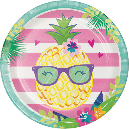 Pineapple N Friends Dinner Plates 8pk