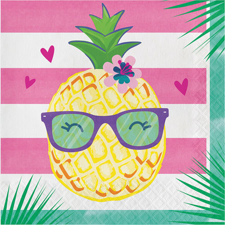Pineapple N Friends Lunch Napkins 16pk