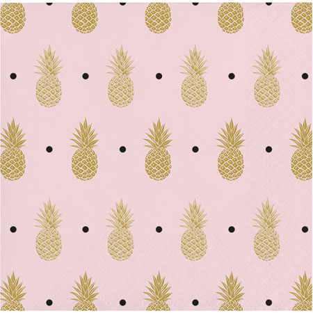 Pineapple Beverage Napkins 16pk
