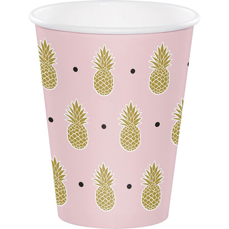 Pineapple 12oz Cups 8pk