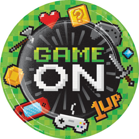 Gaming Party Dinner Plates 8pk