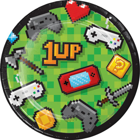 Gaming Party Dessert Plates 8pk