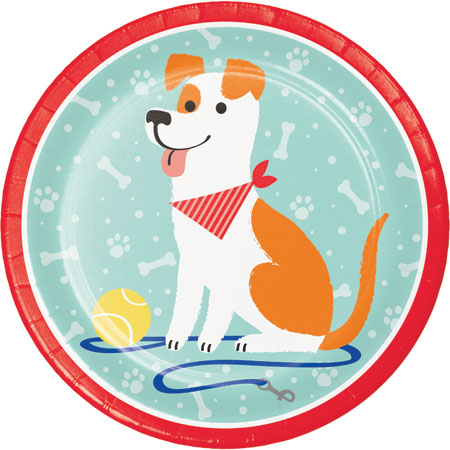 Dog Party Dinner Plates 8pk