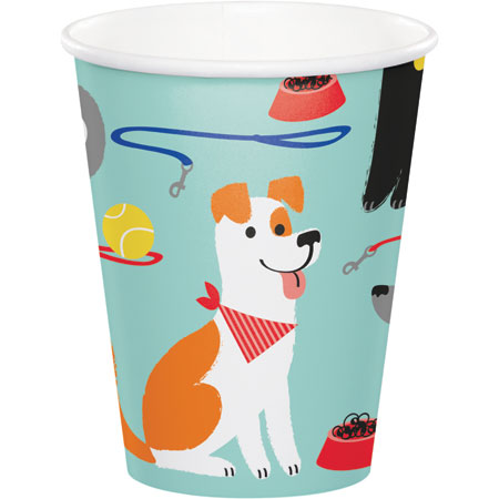 Dog Party 9oz Cups 8pk