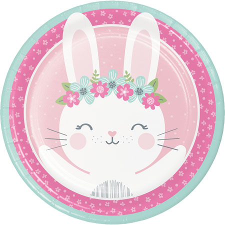 1st Birthday Bunny Dinner Plates 8pk