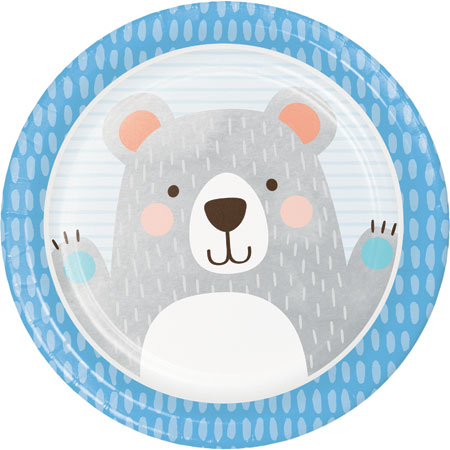 1st Birthday Bear Dinner Plates 8pk