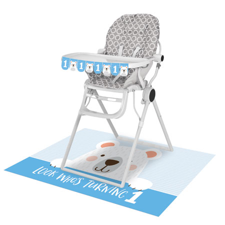 1st Birthday Bear High Chair Kit