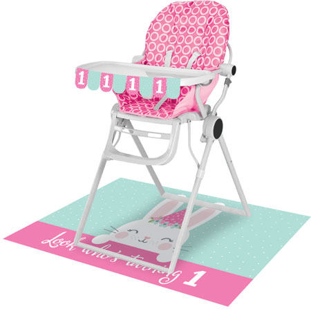1st Birthday Bunny High Chair Kit
