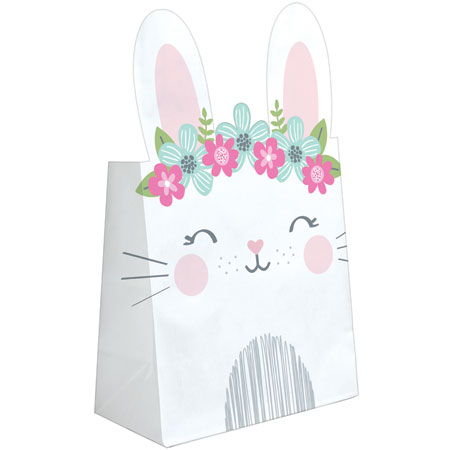 1st Birthday Bunny Paper Treat Bags 8ct
