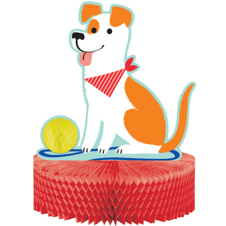 Dog Party Honeycomb Centerpiece