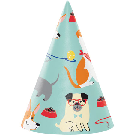 Dog Party Cone Hats 8pk