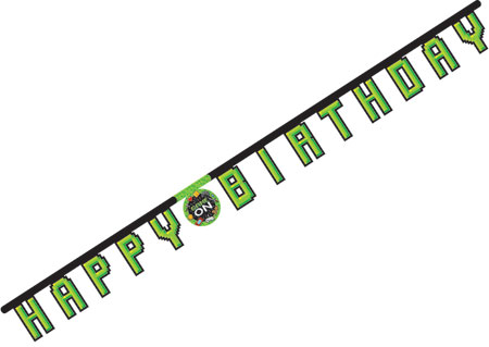 Gaming Party Jointed Happy Birthday Banner