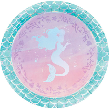 Mermaid Shine Dinner Plates 8pk