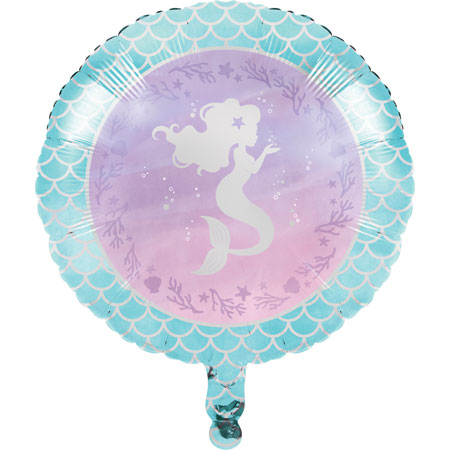 Mermaid Shine 18in Metallic Balloon