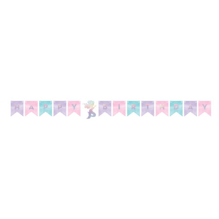 Mermaid Shine Birthday Shaped Banner